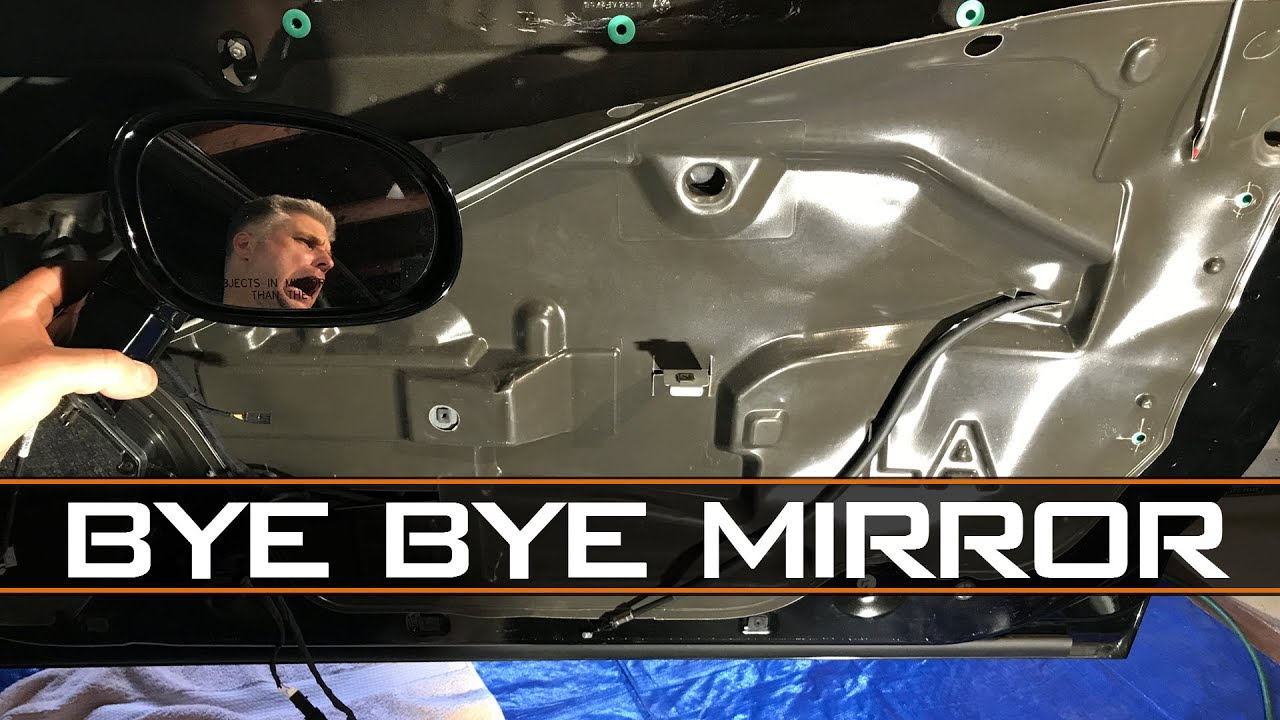 hight resolution of dodge challenger door mirror removal and install