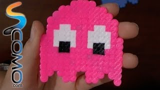 Fantasma (pinky) del come cocos con hama beads - Ghost (pinky) Pacman with hama beads -