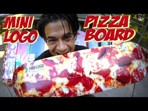 PIZZA SKATEBOARD & MORE UNBOXING & SKATE TEST !!! MINI LOGO BRAND