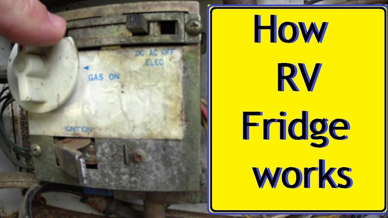 hight resolution of basic operation of small rv refrigerator