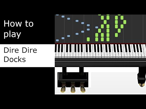 Dire Dire Docks - Kyle Landry Cover (Piano Tutorial - Synthesia)