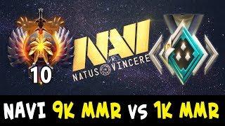 When meet NAVI on Battle Cup — 1k MMR vs 9k MMR