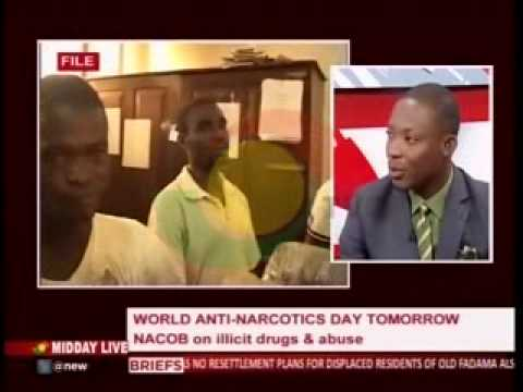 MiddayLive - Discussing Illicit drugs and abuse with NACOB -25/6/2015