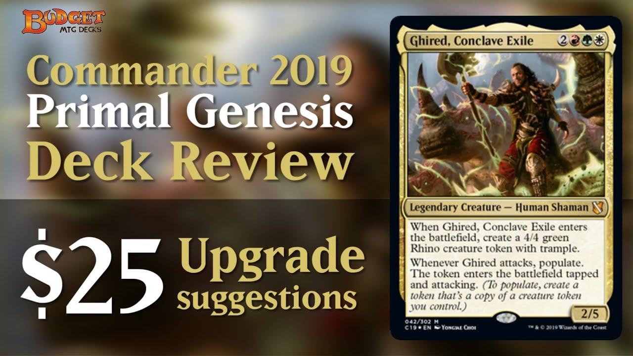 Upgrading Primal Genesis | Commander 2019 Deck Review