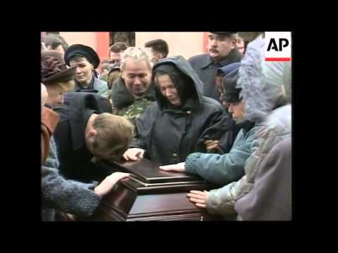 Funeral of special police forces officer killed during Moscow siege