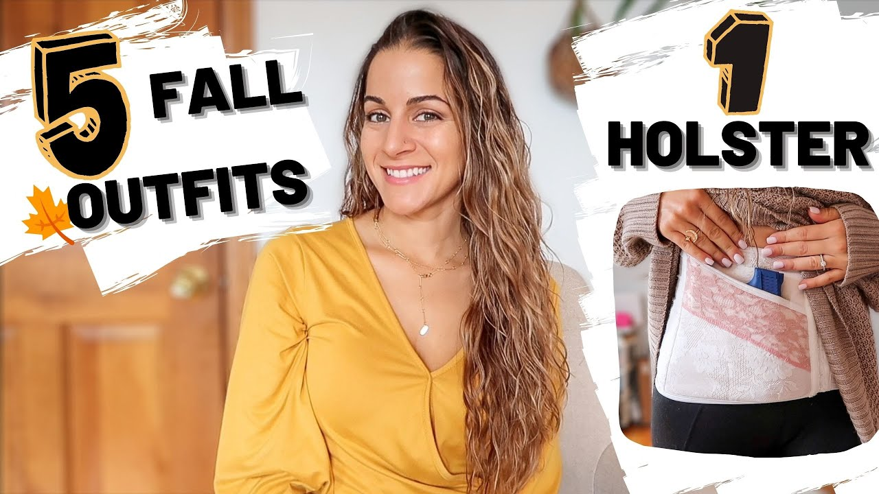 5 FALL OUTFITS, 1 HOLSTER   Autumn concealed carry outfit guide w/a corset holster   giveaway winner