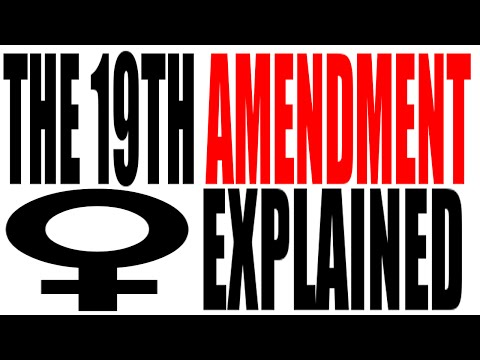 The 19th Amendment Explained: The Constitution for Dummies