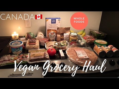 WHOLE FOODS VEGAN/PLANT BASED GROCERY HAUL CANADA | Janice E