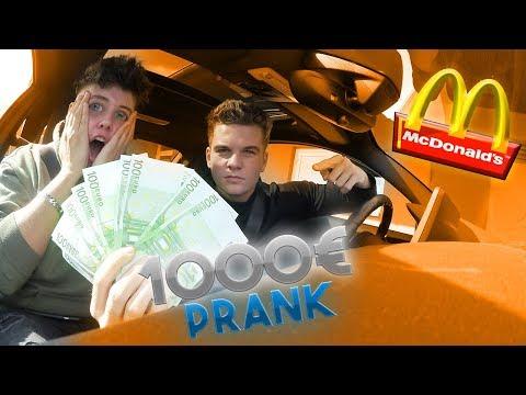 McDonalds PRANK   1.000 € im Essen gefunden   FLEX IT