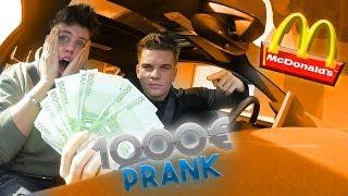 McDonalds PRANK | 1.000 € im Essen gefunden | FLEX IT