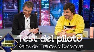 Fernando Alonso se enfrenta al test del piloto profesional - El Hormiguero 3.0