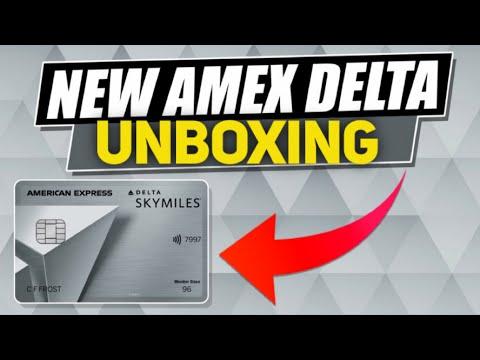 UNBOXING Delta SkyMiles Platinum American Express Card