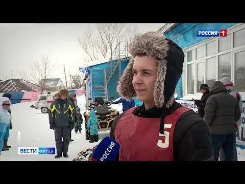 В Барнауле спортсмены устроили мотогонки на льду