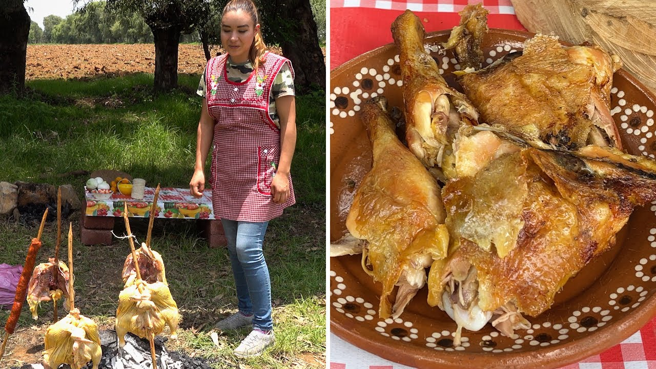 Pollos En Vara Asados (Al Pastor de Pátzcuaro) La Cocina En El Rancho