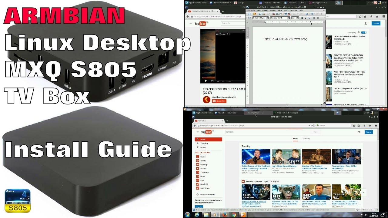 DEBIAN DESKTOP FOR THE MXQ S805 TV BOX - Installation Setup Guide