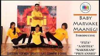 Baby Marvake Manegi | Dance Choreography By Fiza & Jatin | Freestyle Hip Hop |Dance Mania India