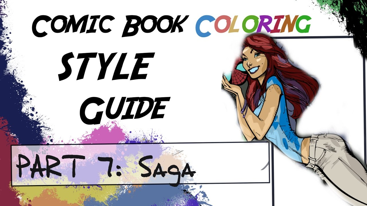 Comic Book Coloring Style Guide