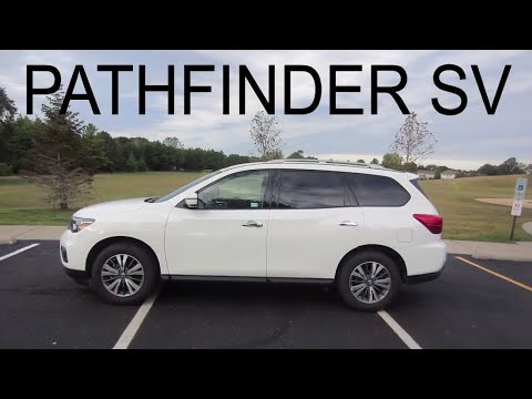 2017 Nissan Pathfinder SV 4WD SUV // review, walk around, and test drive // 100 rental cars