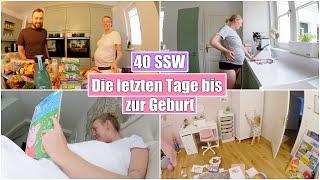 Schnelle Geburt ohne Hebamme?! 😯 Endspurt & Food Haul | 40 SSW | Isabeau