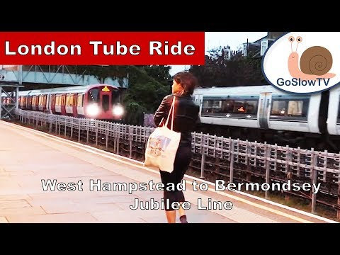 London Underground Tube Ride | West Hampstead to Bermondsey | Jubilee Line | Slow TV | Episode 35