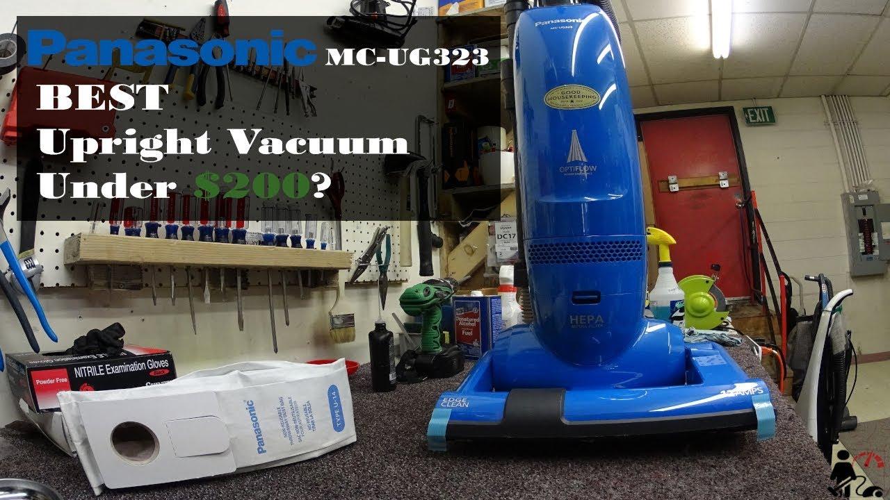 panasonic mc ug323 best upright vacuum under 200 youtube. Black Bedroom Furniture Sets. Home Design Ideas