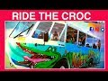 DOG RIDES CROC LAND SEA ADVENTURE - DIY Dog Fun & Food by Cooking For Dogs