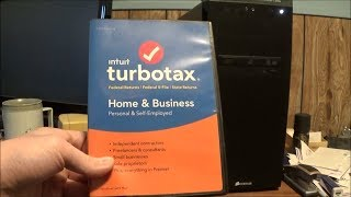 Turbotax Home & Business 2018 Unboxing and Install