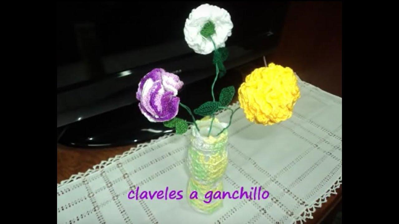CLAVEL A GANCHILLO ((TUTORIAL)) | Labores Angélika | - YouTube