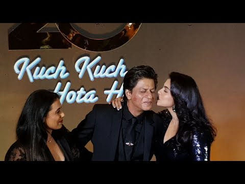Kajol And Rani KISS Shahrukh Khan😘😍| SRK GRAND ENTRY | Kuch Kuch Hota Hai 20 Years Celebration