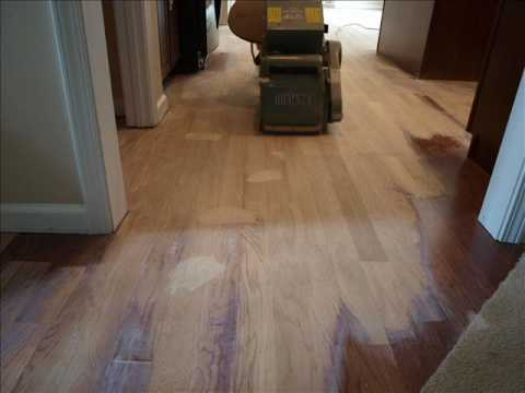 Engineered Hardwood Sand Finish Youtube