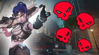 PRO WIDOWMAKER AIM DESTROYS OTHER TEAM!- OVERWATCH FUNNY MOMENTS AND SICK PLAYS! MONTAGE