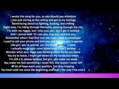 Rod Wave Letter To Houston Lyrics Youtube