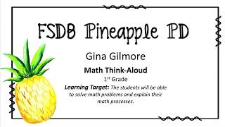 """Math Think-Aloud"" Strategy"