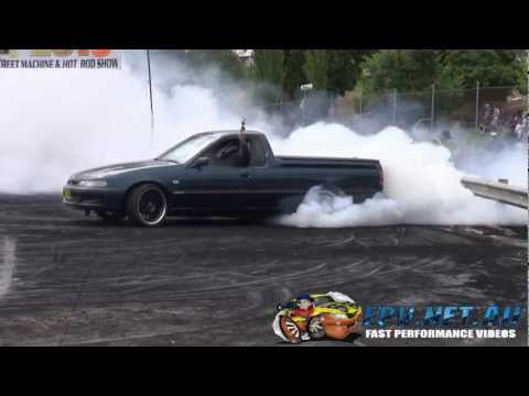 2JZ TURBO POWERED COMMODORE UTE BURNOUTS AT KANDOS 2013