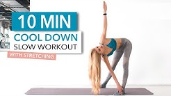 10 MIN COOL DOWN ROUTINE - slow workout, suitable for nighttime // No Equipment I Pamela Reif