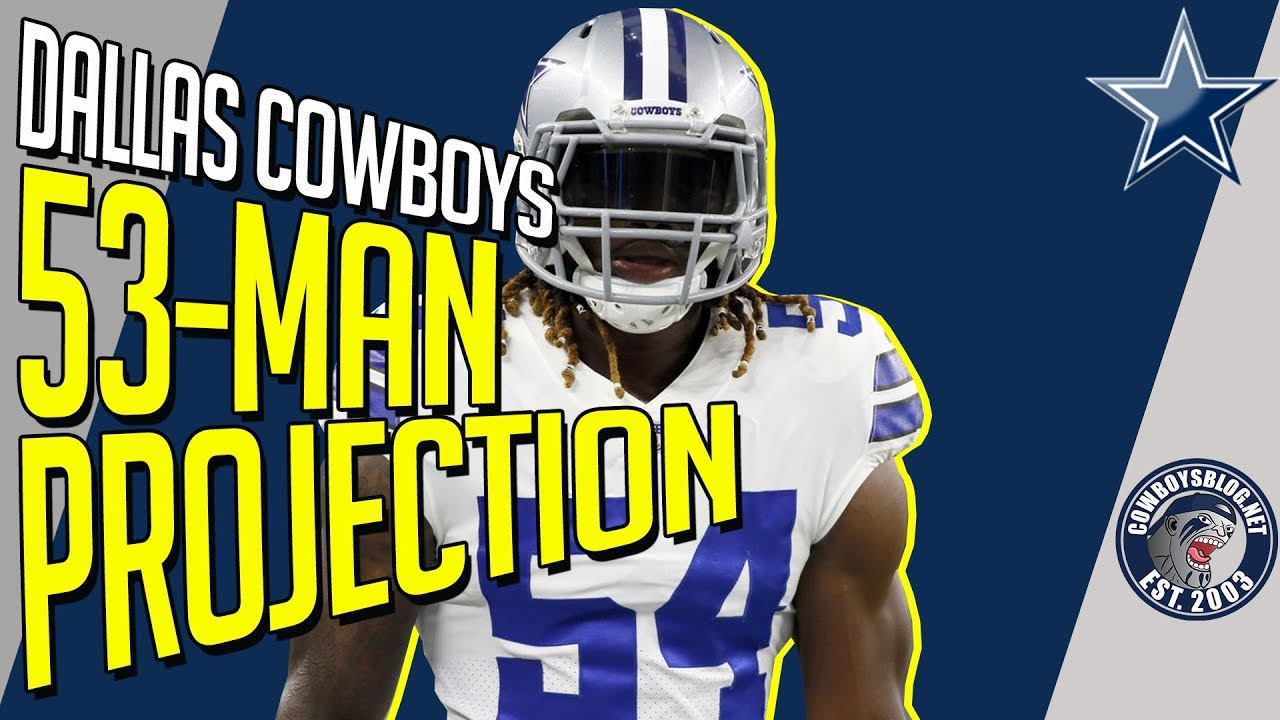 6801a9f7b Dallas Cowboys 53 Man Roster Projection - YouTube