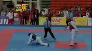 vuclip Seagames 27- (Taekwondo)Trọng Cường hạ knock out đối thủ để giành HCV