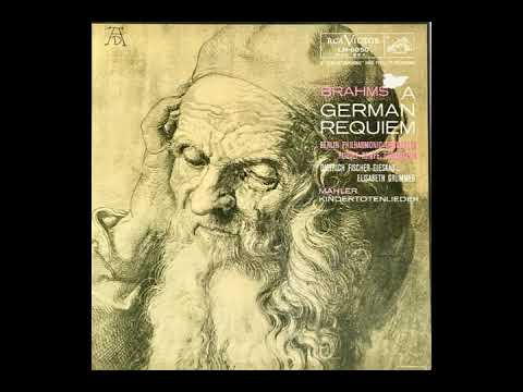 "Brahms: ""The German Requiem"", Kempe/BPO/St. Hedwigs../Grümmer/Fischer-Dieskau, 1955, restored"