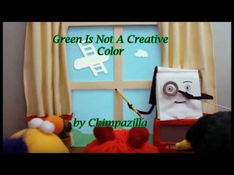 Chimpazilla - Green Is Not A Creative Color (Don't Hug Me I'm Scared 1 - Creative Song - REMIX)