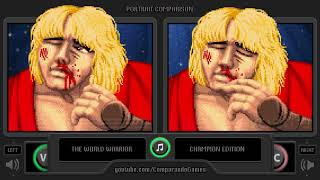 Portrait Comparison of Street Fighter II (World Warrior vs Champion Edition) Side by Side Comparison