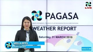 Public Weather Forecast Issued at 4:00 AM March 31 2018