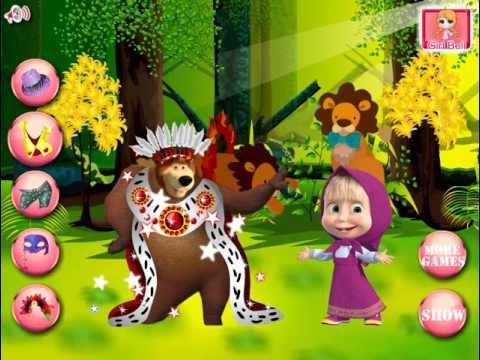 Маша и медведь картинки одевалки