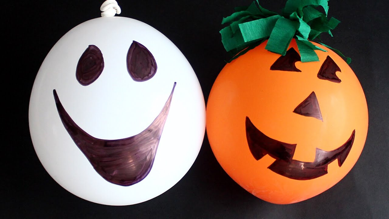 Crea dei palloncini a forma di zucca e fantasma fai da for Zucca di halloween fai da te
