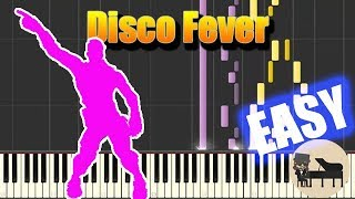 🎵 EASY Disco Fever - Fortnite Battle Royale [Piano Tutorial] (Synthesia) HD Cover