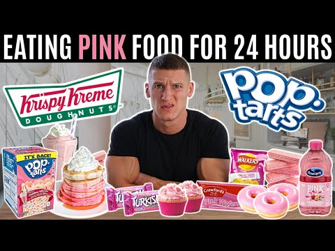 I only ate PINK FOOD for 24 HOURS *one colour food challenge*