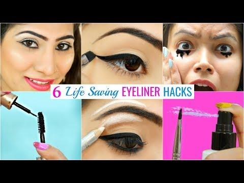 6 LIFE Saving EYELINER Hacks You Must Try | #Beauty #Makeup #Anaysa thumbnail