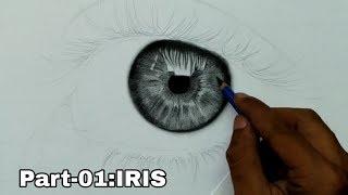 Hyperrealistic Eye Drawing | Episode 01 : How to Draw Iris