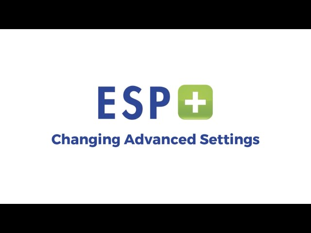 Video 4 - Changing Advanced Settings
