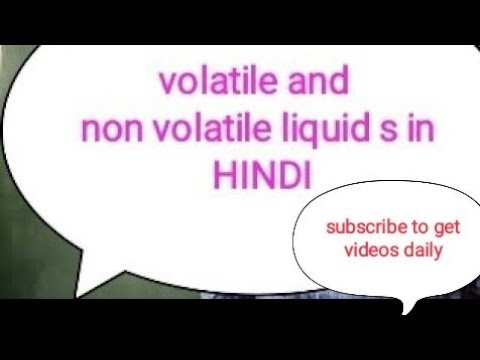 Volatile And Non Volatile Solutions In Hindi.