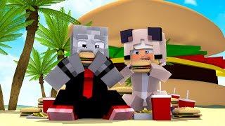 24 STUNDEN auf der FAST FOOD INSEL?! - Minecraft [Deutsch/HD]